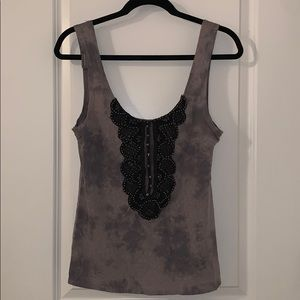 Free People tank with beaded front